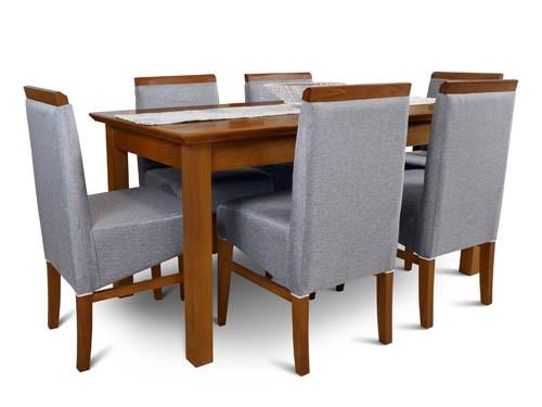 Juego comedor 160x85 madera sillas tapizadas