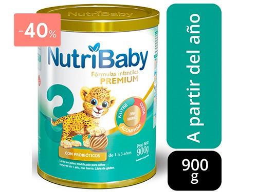 NUTRIBABY LECHE DE FÓRMULA 3 900GR