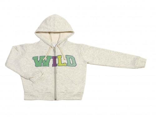 Buzo Wild de algodón con cierre y capucha