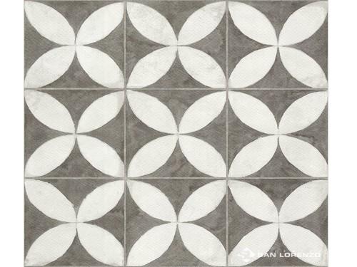 Cerámica Flowers White 45,3x45,3 Cm. San Lorenzo