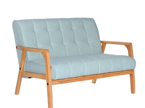 Sillon Sofa de 2 Cuerpos Tucson Tela Color Celeste