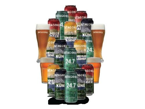 Pack Latas y Vasos Cerveza Patagonia XL