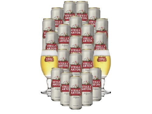 Pack Cerveza Stella Artois con Copas