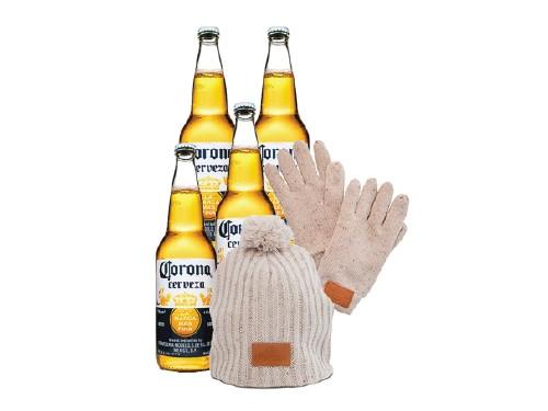 Pack Corona con Guantes y Gorro Invierno
