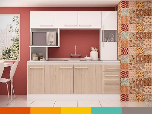 Mueble Cocina Compacta Blanco Terracota