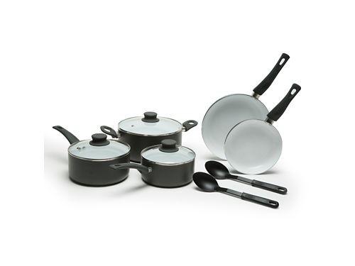 Bateria de Cocina 10 piezas ceramica con utensilios Mica