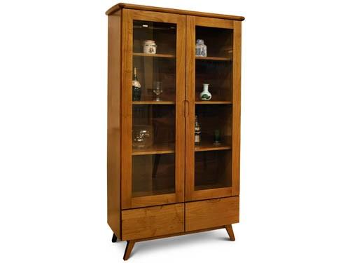 Cristalero / vitrina Docta puerta y estantes madera