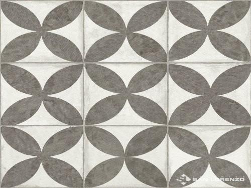 Cerámica Flowers Black 45,3x45,3 Cm.