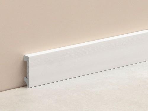 Zócalos Plain Blanco Texturizado 2,5 Mts. 70x15 Mm.