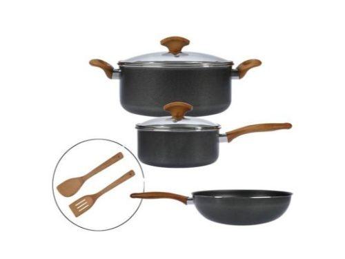 Bateria de Cocina 7 piezas Linea Wood 2 mm
