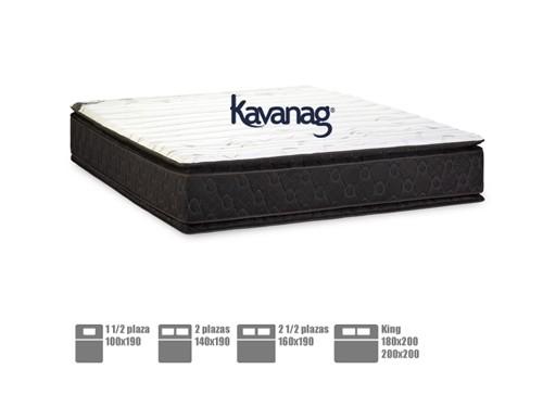 Colchón resortes pillow top premium 5 años de garan. Kavanag premium