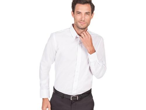 Camisa Vestir Calce Clásico Cuello Pico