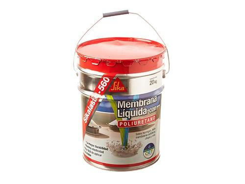 Membrana roja impermeabilizante líquida Sikalastic para techos 20kg