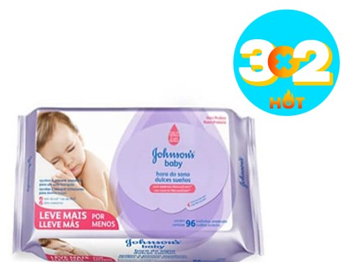 Toallitas Húmedas Johnson's Baby Dulces Sueños x 96 u