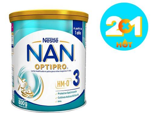Fórmula Lactéa Infantil Nan en polvo Optipro 3 x 800 gr