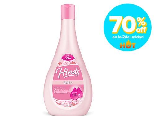 HINDS ROSA Fórmula con Doble Vitamina A, Crema Corporal, 350 ml