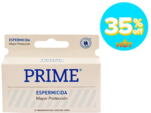 Preservativo de Látex Prime Espermicida x 12 un