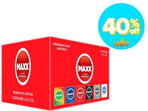 Pack de Preservativos Maxx Mixta 12 cajas x 3 un c/u