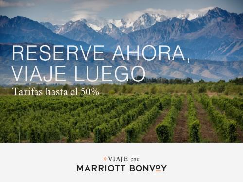 Hoteles Marriott en el interior de Argentina. Tarifas hasta 50% Off.