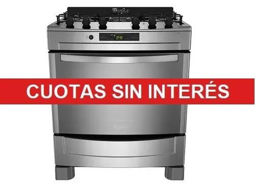 Cocina Multigas Whirlpool WF876XG BG 5 hornallas Inox