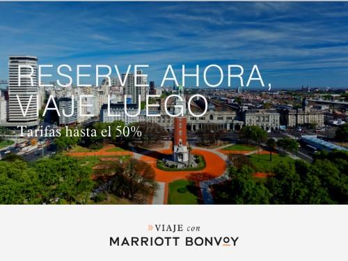 Hoteles Marriott en Buenos Aires. Tarifas hasta 50% Off.