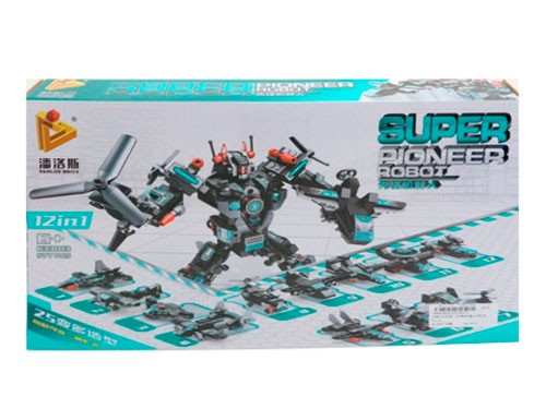 Panlos Brick Super Robot Bloques 12 en 1 1801904 Shine