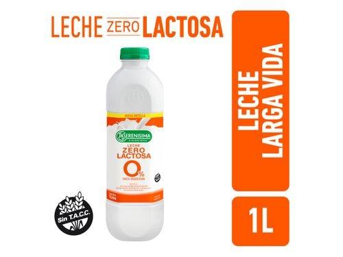 Leche Zero Lactosa La Serenisima Larga Vida 1L
