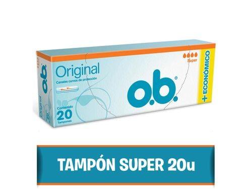 Tampones O.b. Originales Super 20 U