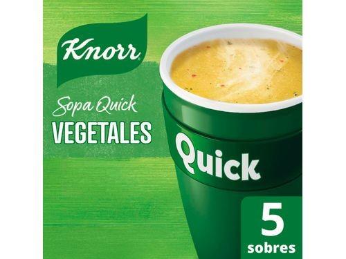 Sopa Instantánea Knorr Quick Vegetales Sin Conservantes 5 Sobres