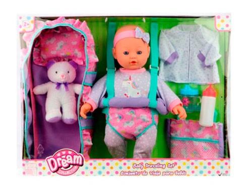Dream Collection Muñeca 40 Cm Set viaje de bebé 17235 Shine
