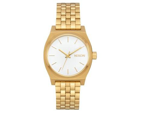 Reloj Mujer Modelo Medium Time Teller Allgold/white NIXON