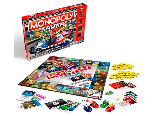 Juego de Mesa Monopoly Gamer Mario Kart E18705730 Hasbro Original