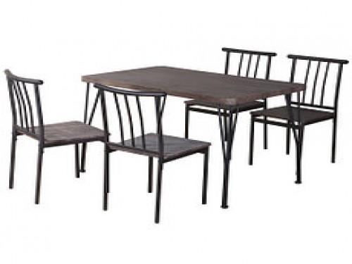 Comedor 4 Sillas Amalio 110x70x75 Café