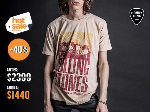 Remera The Rolling Stones de hombre Honky Tonk