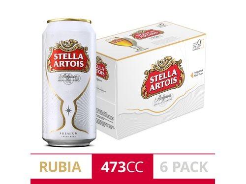 Cerveza Stella Artois 473Cc Six Pack