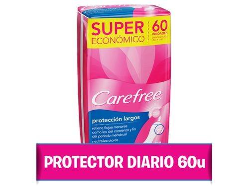 Protectores Diarios Carefree Protección Largo 60 U