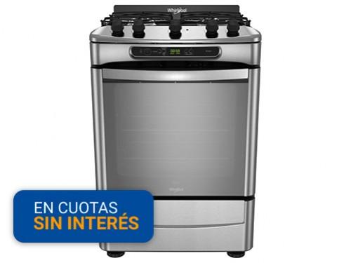 Cocina Multigas Whirlpool WF560XT Inox 4h Encendido Eléctrico
