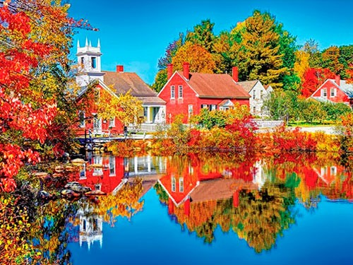 Puzzle 1000 piezas Kodak Otoño en Harrisville New Hampshire 2 8700AD
