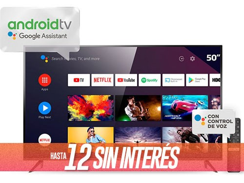 """Smart Tv 50"""" 4K Ultra HD L50P8M Con Android TCL"""