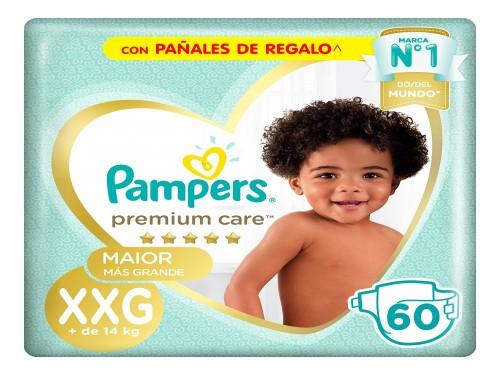 Pampers Premium Care Pañales x60un XXG