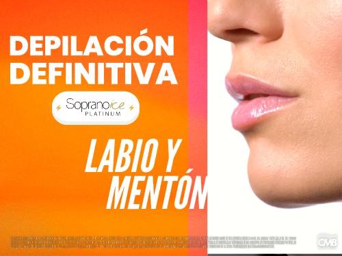 Sesion Depilacion Labio (bozo) y Menton SopranoIce
