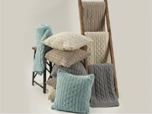 Manta tejida nordica 130x160cm varios colores lavable suave importada