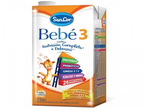 Sancor Bebé Leche Infantil x 1000 ml. Etapa 3 Brick