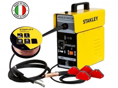 Soldadora Mig Stanley Flux 95a + Rollo de Alambre Tubular ind Italiana