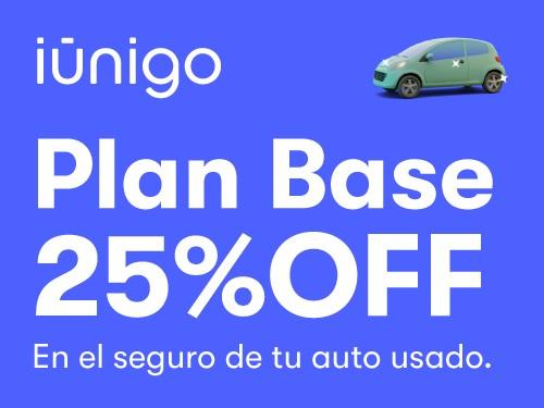 Seguro contra terceros para tu auto usado con 25% OFF.
