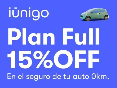 Seguro contra todo riesgo para tu auto 0KM con 15% OFF.
