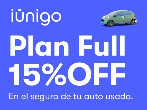 Seguro contra todo riesgo para tu auto usado con 15% OFF.