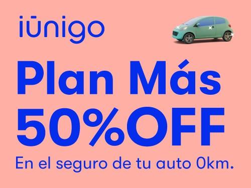 Seguro terceros completo + granizo para tu auto 0KM con 50%.