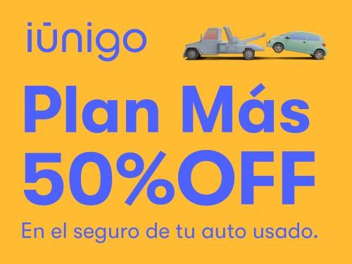 Seguro terceros completo + granizo para tu auto usado con 50% OFF.