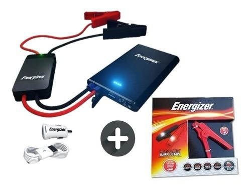 Cargador Arrancador Auto Moto Portatil Bank Power + Cables
